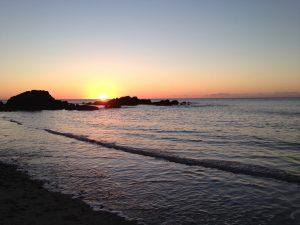 sunset at Church Bay